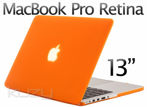 Review:  Kuzy - Retina 13-Inch ORANGE Rubberized Hard Case for MacBook Pro 13.3