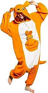 WOWcosplay Pokemon Pikachu Pajamas Halloween Costume Cosplay Animal Onesies,Kangaroo S