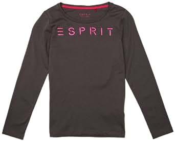 ESPRIT Mädchen T-Shirt 073EE5K003, Gr. 164 (L), Grau (026 GRAPHITE GREY)