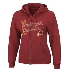 Washington Redskins Ladies Full Zip Majestic Hoodie by Majestic