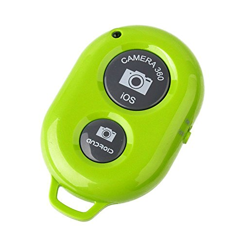 Konsait Bluetooth Wireless Remote Control Camera Photo Selfie Shutter Release Self Timer for iPhone 6 iPhone 6 plus 5S 5C 5 4S 4, iPad Air Mini, Samsung Galaxy S5 S4 S3 Note 4 3 Tab, Google Nexus, HTC, Sony and other iOS Android Phones Green