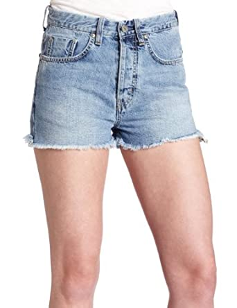 MiH Jeans Women's Halsy Cut-Off Short, Carey, 24