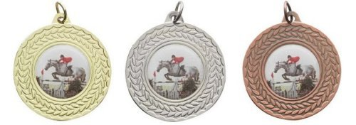 SPECIAL OFFER 50 x 45mm Metal Medals with Ribbons - Any Sport/Event