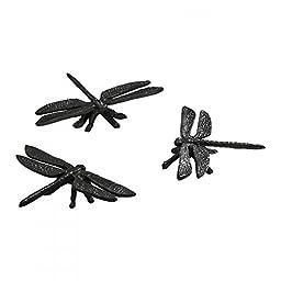 Cast Iron Set Of 3 Dragonflies Rustic Bronze 00210
