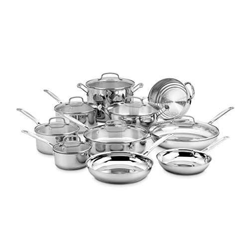 Cuisinart 77-17N 17 Piece Chef's Classic Set, Stainless Steel (Pan Set Cuisinart compare prices)