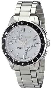 Timex Classic Herren-Armbanduhr XL IQ Fly-Back Chronograph Edelstahl T2N499