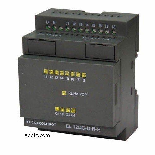 El12Ac 12 I/O Plc Programmable Logic Controller Relay 120/220Vac, W Real Time Clock