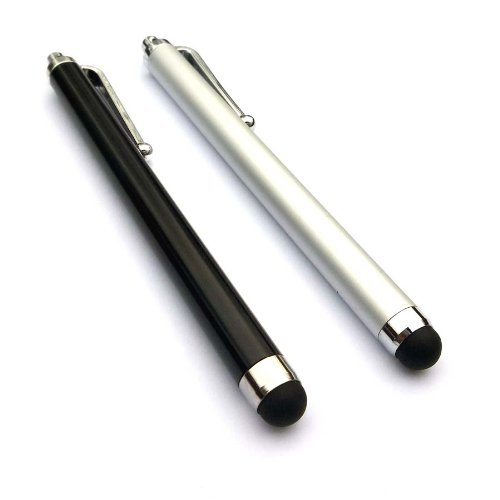 Bargains Depot® (Silver & Black) 2 pcs (2 in 1 Bundle Combo Pack) Capacitive Stylus/styli Universal Touch Screen Pen for Tablet PC Computer : Le Pan TC 970 9.7 Inch Google Android Tablet, Google 3G WiFi MID 4GB Tablet, Epad VIA 8650 Tablet, SVP TPC7901 T