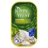 John West Mackerel Fillets in Sunflower Oil 10 x 125g