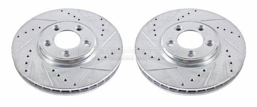Drilled Rear Pair BMW E36 M3 Stoptech Sportstop Drilled Rotors