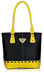 Fantosy Women's Handbag (Black and Yellow) (FNB-321)