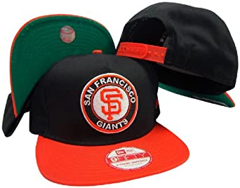 San Francisco Giants Circle K Black Orange Adjustable Snapback Hat Cap by New Era