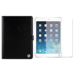 VG Arthur Executive Leather Standing Portfolio Case for Apple iPad Air 9.7 inch Tablet (Black) + Matte Screen