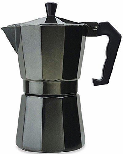 Aluminum 6 Cup Espresso Maker Designer Black (Cuban Espresso Machine compare prices)