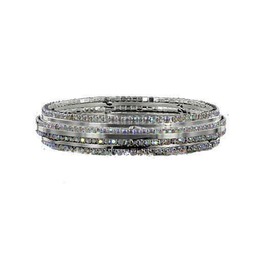 JOA Rhinestone Accent Bangle Bracelet #040916