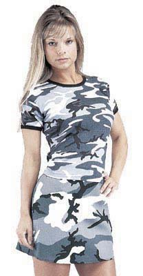 Girls Camouflage Print Shirts