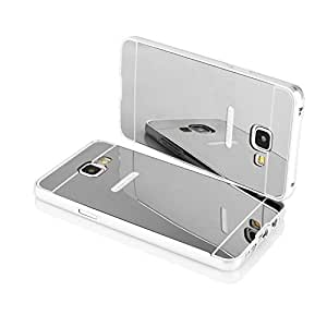 AMOL BAZAR Gold Luxury Metal Bumper + Mirror Back Cover Case For Samsung Galaxy A5 - 2016 SILVER