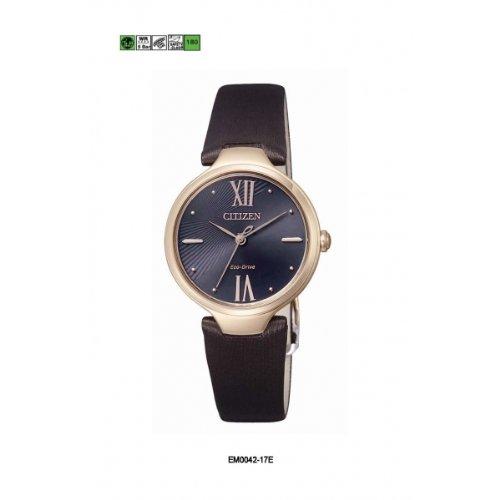 Citizen EM0042-17E - Orologio da polso donna, pelle, colore: nero