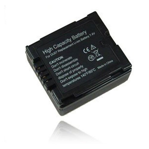 weltatec Qualitätsakku Akku Accu Camcorder kompatibel mit Panasonic NV-GS17 NV-GS27 NV-GS180 NV-GS230 NV-GS250 NV-GS320 / CGA-DU07 CGR-DU06 Camcorder - Hochleistungsakku Li-ion Akku Ersatzakku Camcorder-Akku - (nur Original weltatec mit Hologramm)