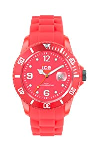 Ice-Watch - SS.NRD.S.S.12 - Flashy - Montre Femme - Quartz Analogique - Cadran - Bracelet Silicone Rouge