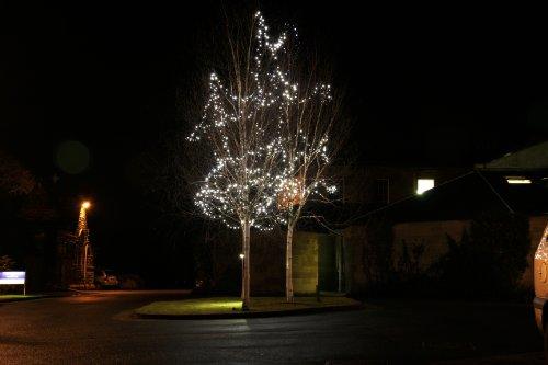 900er LED Lichterkette warmweiß, Außen, anschließbar, Typ C