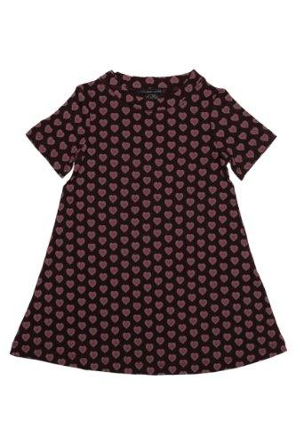 Little Marc Jacobs Dress Heart Breaker, Color: Dark Brown, Size: 128