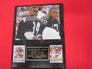 Bo Jackson Marcus Allen Oakland Raiders Heisman Winners 2 Card Collector Plaque #1 w... by J & C Baseball Clubhouse