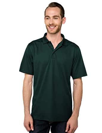 Tri-Mountain Men's Peak Performers Mini-Pique Polo,Forest Green,S