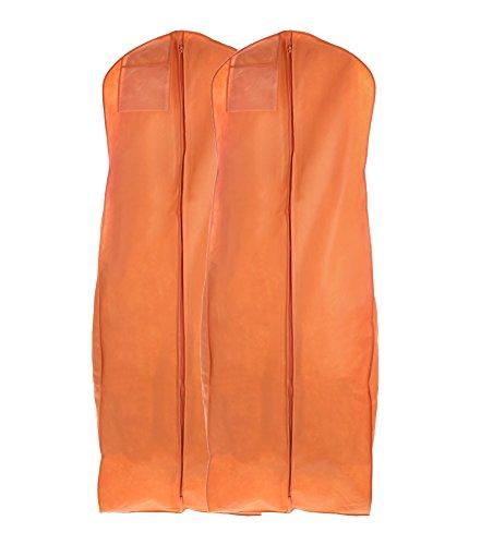 bags lesstm breathable wedding gown dress garment bag 72 long set of 2 orange ebay. Black Bedroom Furniture Sets. Home Design Ideas