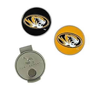 NCAA Missouri Hat Clip and 2 Golf Ball Markers