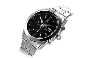 Seiko Men's SNDA87 Chronograph Black Dial Stainless Steel Watch
