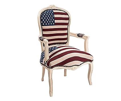 Poltrona barocco bandiera Usa
