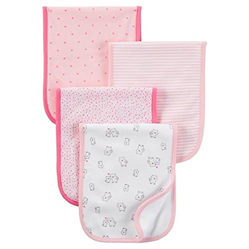 Just One YouTM Made by Carter's Baby Girls' 4-Pack Burp Cloth Set - Pink