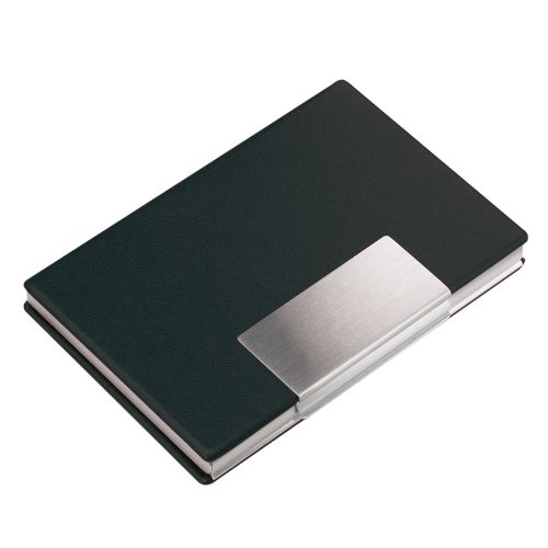 Aluminium Business or Credit Card Case/Holder with Vinyl Cover