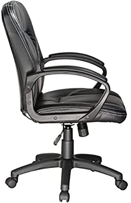 Comfort Products 60-6212 Relaxzen Mid-Back Chair with 3-Motor Massage, Black