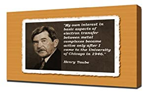 Amazon.com: Henry Taube Quotes 2 - Canvas Art Print: Kitchen & Dining
