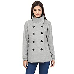 Annabelle by pantaloons Women's Casual Jacket (205000004729940_Light Grey_S)