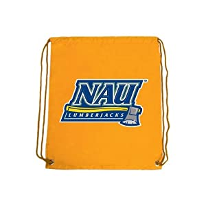 Northern Arizona Nylon Gold Drawstring Backpack, NAU Lumberjacks