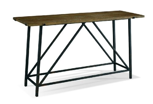 Cheap Console Table by Sherrill Occasional – CTH – Aged Iron and Oak (365-710) (365-710)