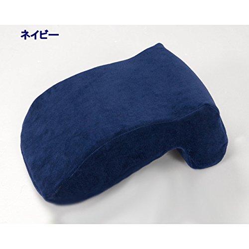 至福のお昼寝タイム♪ちょい寝に最適な低反発お昼寝枕 デスク枕 携帯枕 仮眠枕 まくら マクラ デスクピロー (ネイビー)