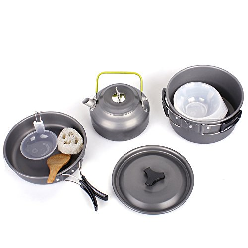 Camping-Pots-Portable-Hard-Anodized-Aluminum-Cooking-Ware-Cookware-Picnic-Bowl-Pot-Pan-Kits