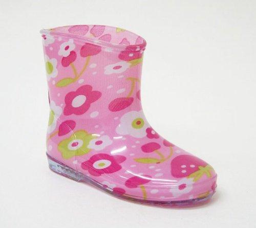 キッズ ベビー レインブーツ カラフル 子供 長靴 hnkb7007 (16.0cm, くまイエロー)