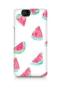 Amez designer printed 3d premium high quality back case cover for Micromax Canvas Knight A350 (WaterMelon Pattern 2)