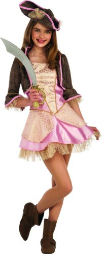 Teen Girls Pale Pink Pirate Costume