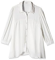 Soie Women's Button Down Shirt (6125OFF WHITE_Medium)