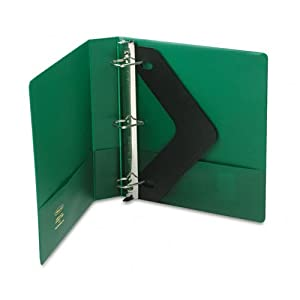 "Wilson Jones Products - Wilson Jones - Heavy-Duty No-Gap D-Ring Binder With Label Holder, 1-1/2"" Capacity, Hunter Green - Sold As 1 Each - Special No-Gap D-ring design keeps sheets from slipping through rings. - D-rings hold 40% more sheets than same size round rings. - Pocket Guards hold papers securely within binder. - Label holder sleeve on spine provides quick and easy identification of contents. - Tough, long-lasting hinge for added durability."