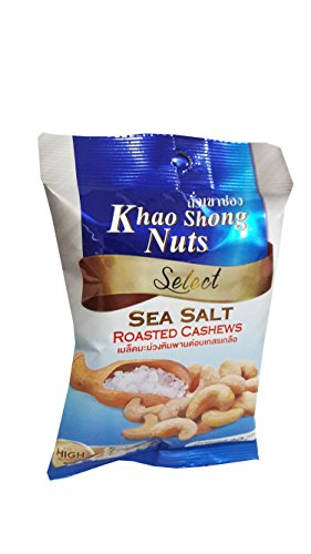 6 packs of Khao Shong Nuts Select, Sea Salt Roasted Cashews. Healthy and delicious premium quality snack from Thailand.(30 g/ pack) (Cheese Flavored Sunflower Seeds compare prices)