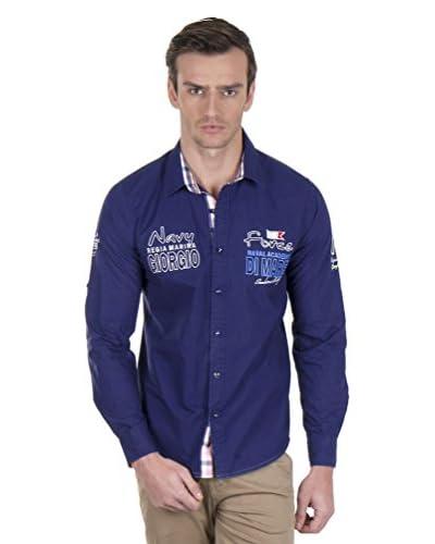 Giorgio Di Mare Camisa Hombre 9960 Azul Marino