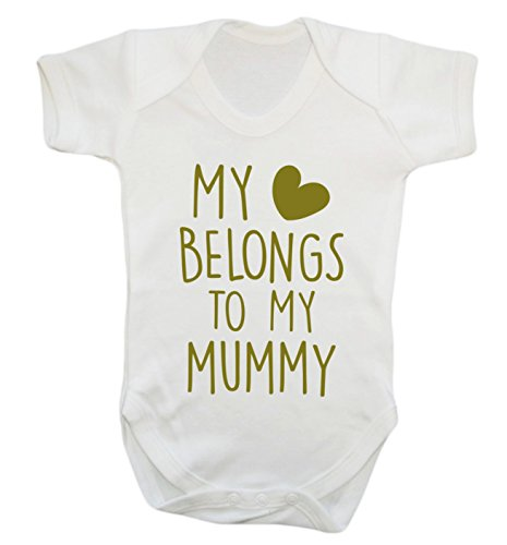 My heart belongs to my mummy baby vest bodysuit babygrow