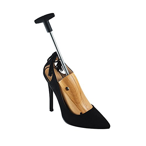 """Houseables High Heel Stretcher, 3"""" - 6"""", Shoe Stretch Women, Single, Medium, Size 6.5 - 8, with Bunion Plugs, Ladies Shoes Shaper, Size Adjuster, Premium Beech Wood, Stainless Steel Mechanism"""